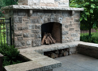 Outdoor Fireplace Wood Burning
